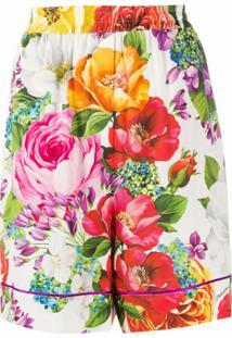 Dolce & Gabbana Bermuda Com Estampa Floral - Branco