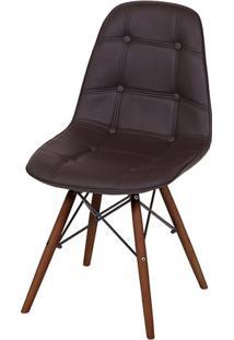 Cadeira Eames Botone Marrom Base Escura - 44874 - Sun House