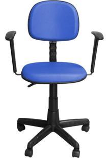 Cadeira Pethiflex Cs-02Bt Couro Azul