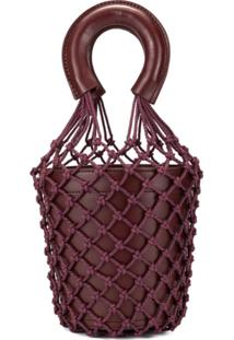 Staud Moreau Net Bucket Bag - Marrom
