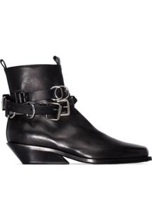 Ann Demeulemeester Ankle Boot 'Tuscon' - Preto