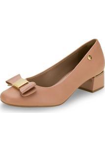 Sapato Feminino Salto Baixo Via Marte - 204451 Bege 34