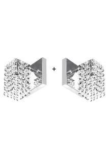 2 X Arandelas De Cristal Legitimo Clearcast A Mais Linda