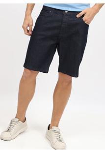 Bermuda Jeans Com Bolsos - Azul Escuro - Colccicolcci