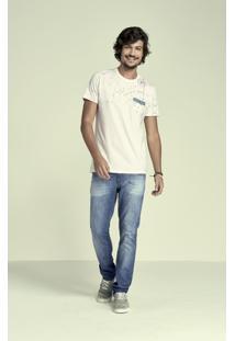 Camiseta Meia Malha Malwee Masculina - Masculino
