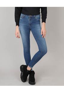 392cad641 R$ 139,99. CEA Calça Jeans Feminina Sawary Cigarrete Com Strass Azul Médio