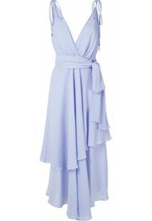 Olympiah Vestido Longo Begonia - Azul
