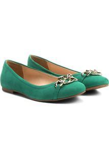 Sapatilha Couro Shoestock Corrente Feminina - Feminino