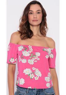 Blusa Ciganinha Floral- Rosa & Branca- Malweemalwee