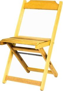 Cadeira Dobrável Em Madeira Itaúba Marcenaria Real Sem Pintura