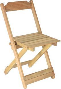 Cadeira Dobrável Em Madeira