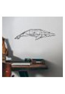 Adesivo De Parede Baleia Em Origami - P 38X127Cm