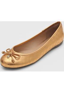 Sapatilha Dumond Matelassê Metalizada Dourada