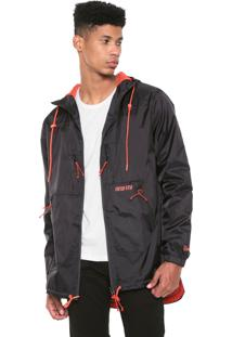 Jaqueta Corta Vento New Era Utilitary Raincoat Preta