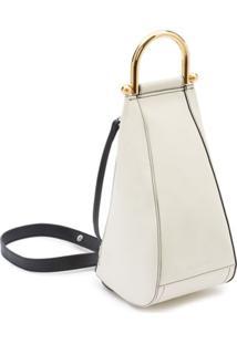 Jw Anderson Small Wedge Shoulder Bag - Branco