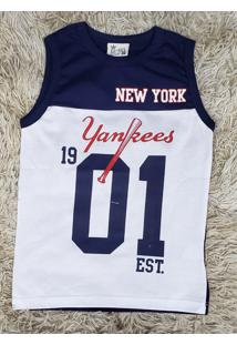 Camiseta Regata Azul New York