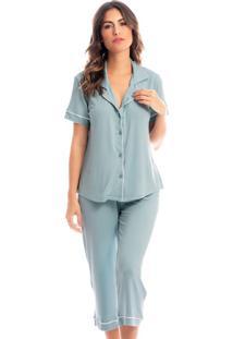 Pijama Esther Capri Abotoado