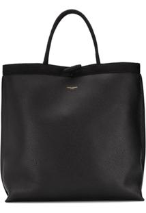 Saint Laurent Bolsa Tote Shopping - Preto
