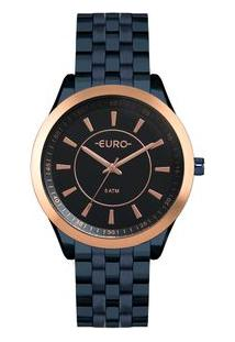 Relógio Euro Feminino Color Slim Azul