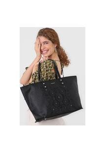 Bolsa Desigual Shopping Bag Majestic Preto