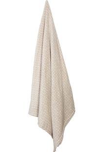 Cobertor Casal Loft I Bege E Branco (180X220Cm)