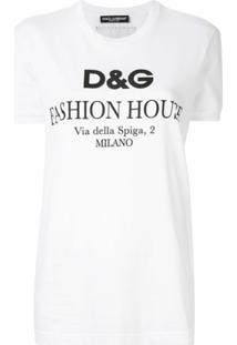 Dolce & Gabbana Blusa Com Logo - Branco