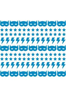 Adesivo De Parede Decohouse Batboy Azul