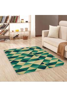 Tapete Sala Wevans Triângulos Verdes