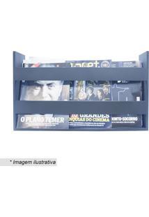 Porta Livros & Revistas- Azul Escuro- 30X50X11Cmkapos