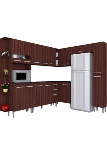 Cozinha Compacta 8 Peças Karina -Poquema - Capuccino