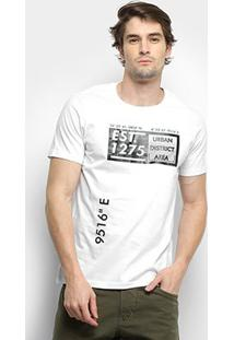 Camiseta All Free Urban District Masculina - Masculino-Branco
