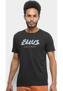 Camiseta Ellus Cotton Fine Ellus All We Are Classic Masculina - Masculino-Preto