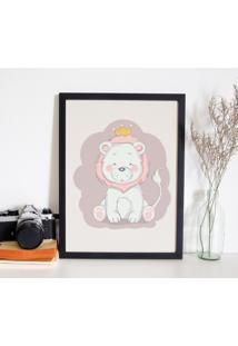 Quadro Decorativo Infantil Leã£O Baby Preto - 20X30Cm - Multicolorido - Dafiti