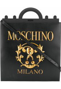 Moschino Bolsa Tote 'Roman Double Question Mark' - Preto