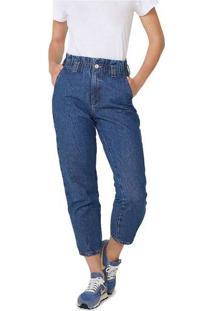 Calça Feminina Em Jeans De Algodão Azul
