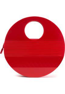 Bolsa De AcrãLico Isla Galerias Oval Cor Vermelho Escarlate - Vermelho - Feminino - Dafiti