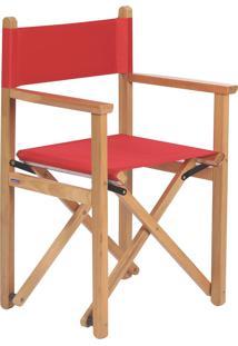 Cadeira Diretor Dobrável Tramontina 12667080 Vermelha