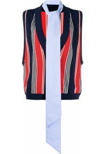 Jejia Stripe Knit Pullover - Azul