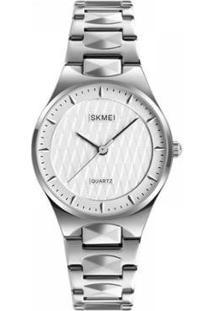 Relógio Skmei Analógico Feminino - Feminino-Prata