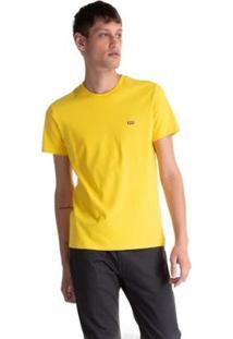 Camiseta Levis Logo Batwing Basic Masculina - Masculino-Amarelo