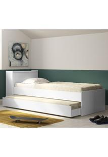 Bicama Com Baú Multimóveis 5009 - Branco Brilho