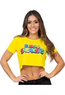 Camiseta Kings Sneakers Cropped Jogo Amarelo - Kanui
