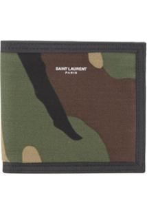Saint Laurent Carteira Camuflada - Verde