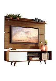 Rack Madesa Dubai E Painel Para Tv Até 65 Polegadas Com Pés Rustic/Branco 6E5Z Mdes0200146E5Z