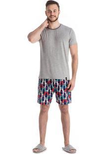Pijama Pipo Adulto Azul/P