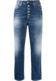 Dondup Koons Cropped Boyfriend Fit Jeans - Azul