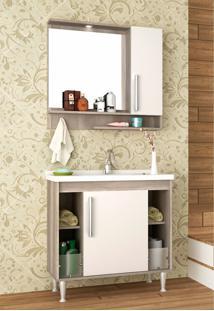 Conjunto Para Banheiro Brisa Barrique/Branco Bosi - Tricae