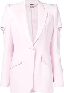 Alexander Mcqueen Blazer Com Recorte Vazado - 6875 Pink