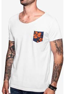 Camiseta Bolso Floral Canoa 103515