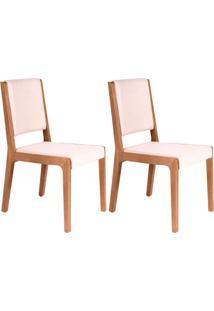 Conjunto Com 2 Cadeiras De Jantar Veraneio Bege E Castanho